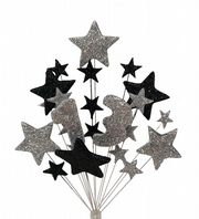 Number age 13th birthday cake topper decoration in silver and black - free postage